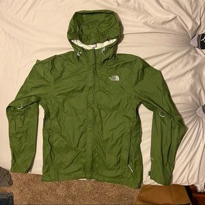 North Face Forest Green Windbreaker